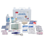 25 Person Bulk First Aid Kit w/ CPR Face Shield - 224-F