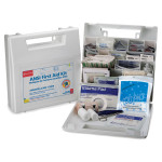 50 Person, Bulk First Aid Kit, Plastic, White, 196 Pieces, 225-AN