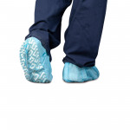 Shoe Covers, Non-Skid, Blue, 100/Bag (350-10)