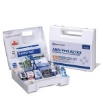 25 Person First Aid Kit, ANSI A+, Plastic Case with Dividers - 90589