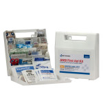 50 Person First Aid Kit, ANSI A+, Plastic Case with Dividers - 90639