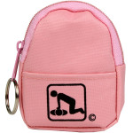 CPR Pink BeltLoop/KeyChain BackPack: Shield-Gloves-Wipe - 911CPR-HPK