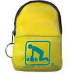 CPR Yellow Belt/KeyChain BackPack: Shield-Gloves - 911CPR-LYK