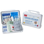 Bilingual Contractor's First Aid Kit, 25 Person - 9301-25P