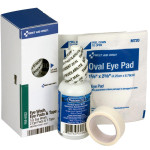 Eye Care Kit, 1 oz. Eyewash, 2 Oval Eye Pads and Tape Roll - SmartTab EzRefill - FAE-6022