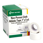 Athletic Tape - Non-Porous Cloth 1 inch x 5 yard - 10 Per Box - H638