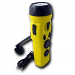 4 n 1 Dynamo 3 LED Flashlight w/ Phone Charger - L101-DY