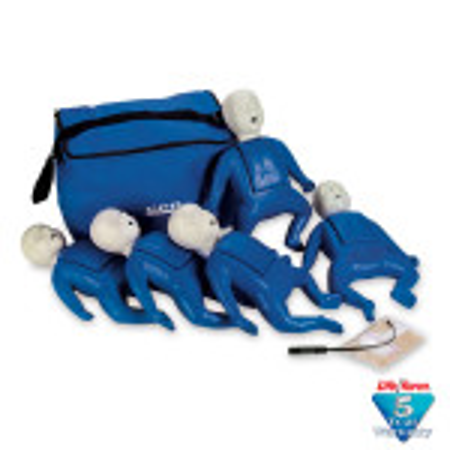 CPR Prompt 5-Pack Infant / Baby Training Manikin - Blue - LF06050U