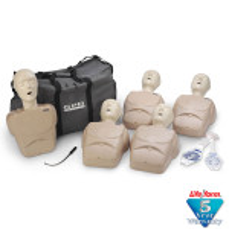 CPR Prompt 5-Pack Adult/Child / Pediatric Training Manikin - Tan - LF06102U