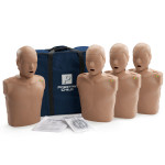 Prestan Child / Pediatric CPR Manikin w/ Monitor - 4 Pack - Dark Skin - PP-CM-400M-DS