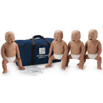 Prestan Infant / Baby CPR Manikin w/o Monitor - 4 Pack - Dark Skin - PP-IM-400-MS