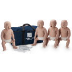 Prestan Infant / Baby CPR Manikin w/o Monitor - 4 Pack - Medium Skin - PP-IM-400-MS