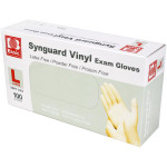 Powder Free Vinyl Exam Gloves - Large - 100 Per Box - ROYPFV206L