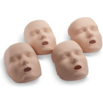 Face skin replacements for the PRESTAN Professional Adult Jaw Thrust Manikin, 4-Pack, Medium Skin, RPP-JTFACE-4-MS