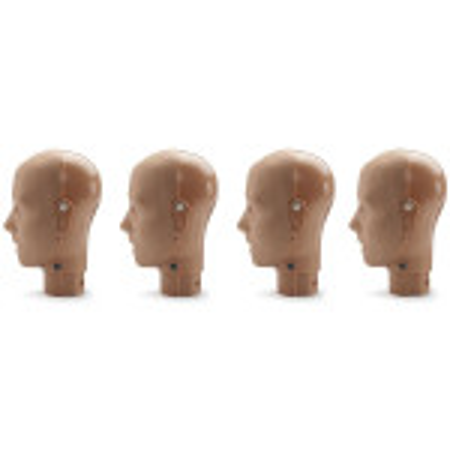 Jaw Thrust Head Assemblies for the PRESTAN Professional Adult Manikin, 4-Pack, Dark Skin, RPP-JTHEAD-4-DS