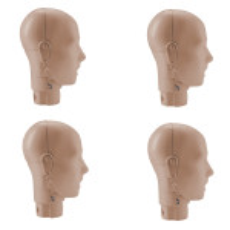 Prestan Adult Manikin Jaw Thrust Head Assembly - 4 Pack - Medium Skin - RPP-JTHEAD-4-MS