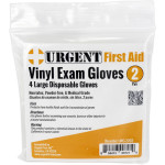 Disposable Gloves, Large, 2 Pair Per Bag, URG-2202