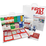 2 Shelf Industrial ANSI A+ First Aid Station, Pocketliner - 75 Person - URG-245L