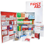 4 Shelf Industrial ANSI A+ First Aid Station, Pocketliner - 150 Person - URG-248L