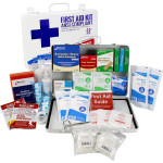 Bulk First Aid Kit, Metal, 198 Pieces, ANSI B, 50 Person, URG-3683