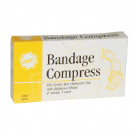 "4"" Bandage Compress, Off Center, Sterile, 1 per box, 0224"
