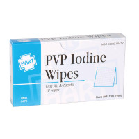 PVP Iodine Wipes, 10 per box, 0470