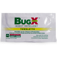 BugX FREE Natural Insect Repellent Towelette, Wallmount Dispenser, 50/Box, 12844