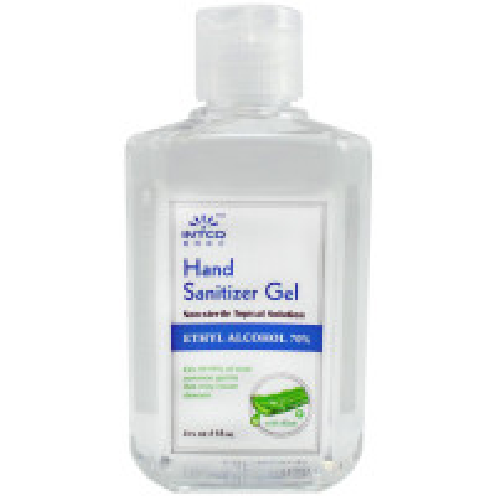 4 oz. Hand Sanitizer, 70% Isopropyl Alcohol, Clear Bottle, 300677