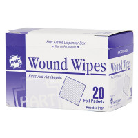 Antiseptic Wipes, 20 Per Box, 6197