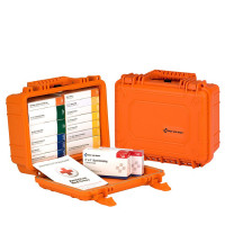 16 Unit ANSI A First Aid Kit, Plastic, Waterproof - 90029