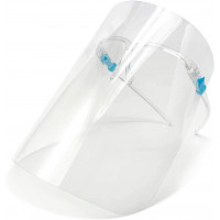 Protective Face Shields With Glasses, Anti-Fog, Clear, 5-Pack (9051FS)