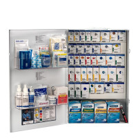 XXL Metal Smart Compliance Food Service First Aid with Meds, 90834