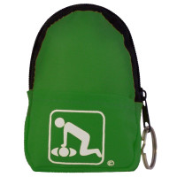 CPR Green Belt/KeyChain BackPack:Shield-Gloves - 911CPR-LGK