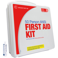 50 Person Basic First Aid Kit with Eye Wash - Plastic - 9999-2130