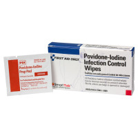 Povidone-Iodine Infection Control Wipe - 10 Per Box - A338
