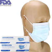 Disposable Protective Face Mask with Ear Loop, blue, FDA APPROVED, Box of 50, AA-50
