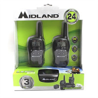 Midland Walkie Talkie Radios (Pair) - 24 Mile - 22 Channel - C/99MD
