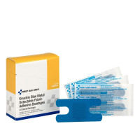Blue Metal Detectable Knuckle Bandages. Easily visible in case of loss.