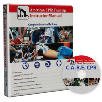 American CPR Training Instructor Manual w/ C.A.R.E DVD - INSTMAN-V3DVD
