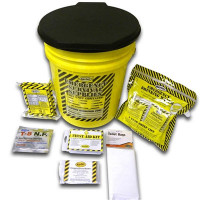 Economy Emergency Kit - 1 Person - Honey Bucket - KEC1P