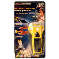 Dynamo Mega Brite Turbo Flashlight w/ Phone Charger - L77MP3