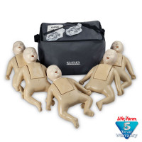 CPR Prompt 5-Pack Infant / Baby Training Manikin - Tan - LF06051U