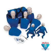 CPR Prompt 7-Pack Manikins - 5 Adult/Child / Pediatric & 2 Infant / Baby - Blue - LF06700U