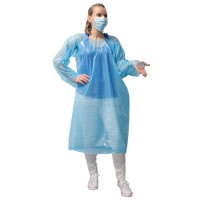 Economy, One Time Use, Disposable Gown with Thumb Hooks, Individually Bagged, Blue, 1 Each, M90150