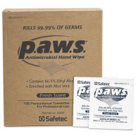 "5""x8"" Personal Antimicrobial (kills germs) Wipe - 100 Per Box"
