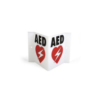 Triangular Automated External Defibrillator Wall Sign - PAD-ACC-05