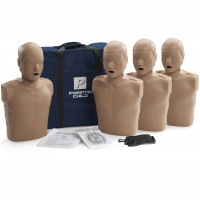 Prestan Child / Pediatric CPR Manikin w/o Monitor - 4 Pack - Dark Skin - PP-CM-400-DS