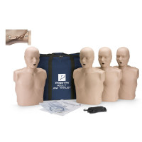Prestan Adult Jaw Thrust CPR Manikin w/o CPR Monitor - 4 Pack - Medium Skin - PP-JTM-400