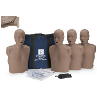 Prestan Adult Jaw Thrust CPR Manikin w/ CPR Monitor - 4 Pack - Dark Skin - PP-JTM-400M-DS