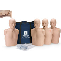 Prestan Adult Jaw Thrust CPR Manikin w/ CPR Monitor - 4 Pack - Medium Skin - PP-JTM-400M-MS